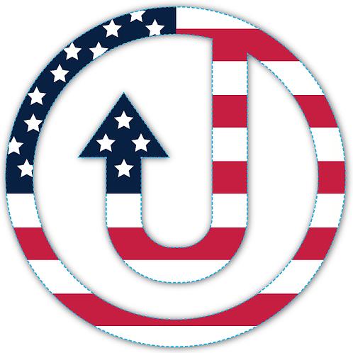 """""""USA REMIX-ed"""" Car Decal"""