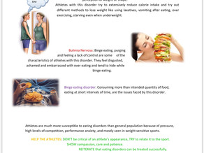 Mental health aspects of eating disorders in athletes