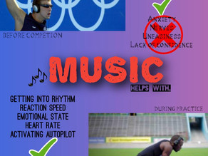 Music and its impact on athlete mental well being