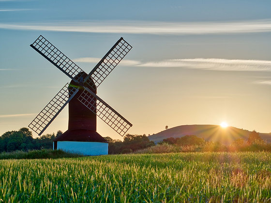 Windmill at equinox