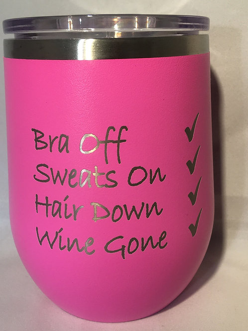 Bra Off Wine Tumbler