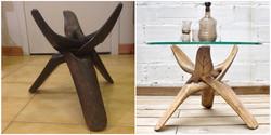 Pie trípode africano restaurado