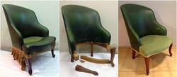 sillón calzador renovado