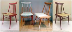 Pareja de sillas vintage renovadas