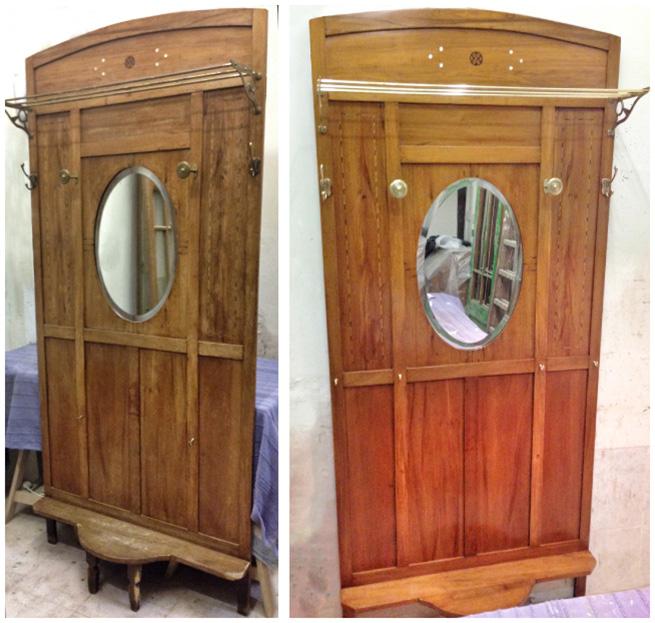 Mueble de entrada restaurado