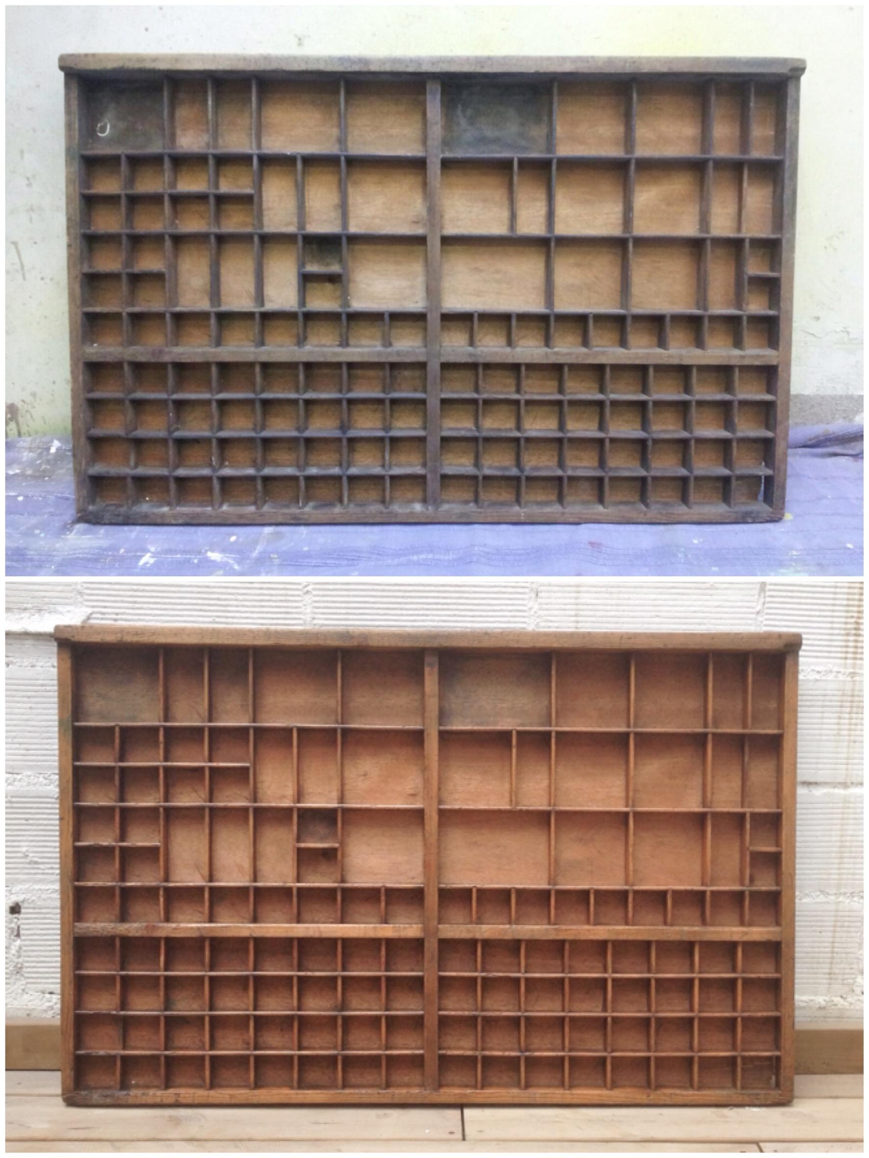 Cajón de imprenta restaurado