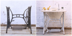 Mueble lavabo de maquina de coser