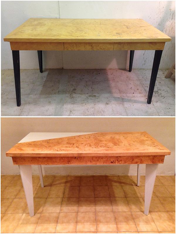 Mesa escritorio/comedor renovada