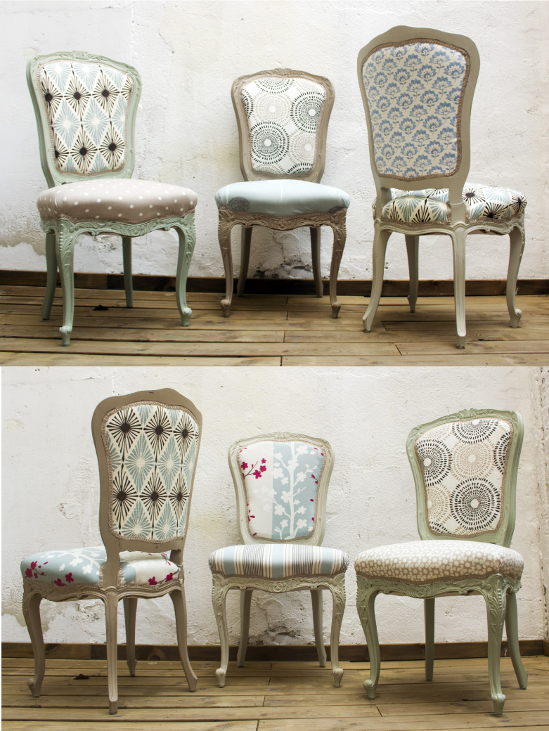 sillas renovadas y tapizadas