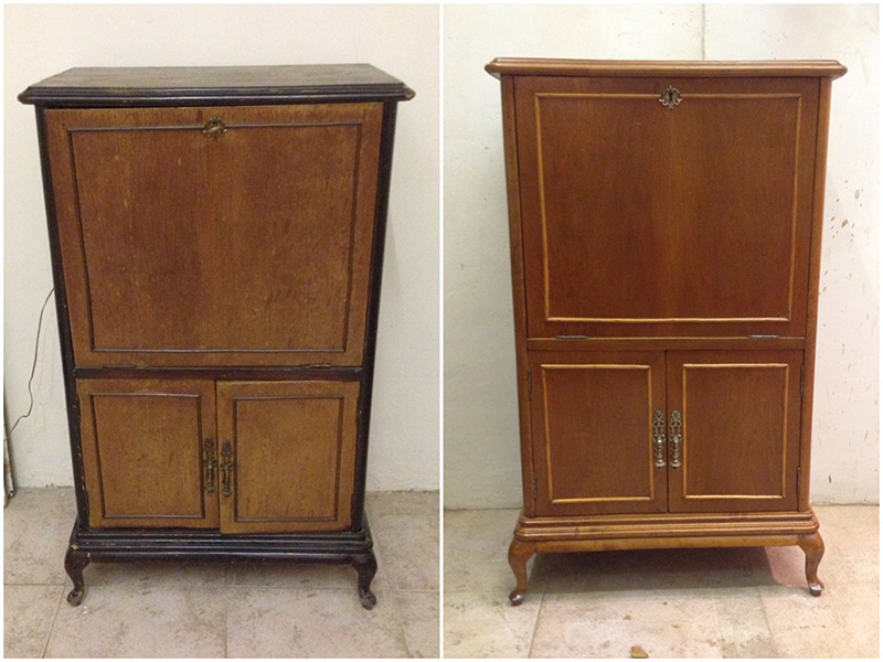Mueble bar restaurado