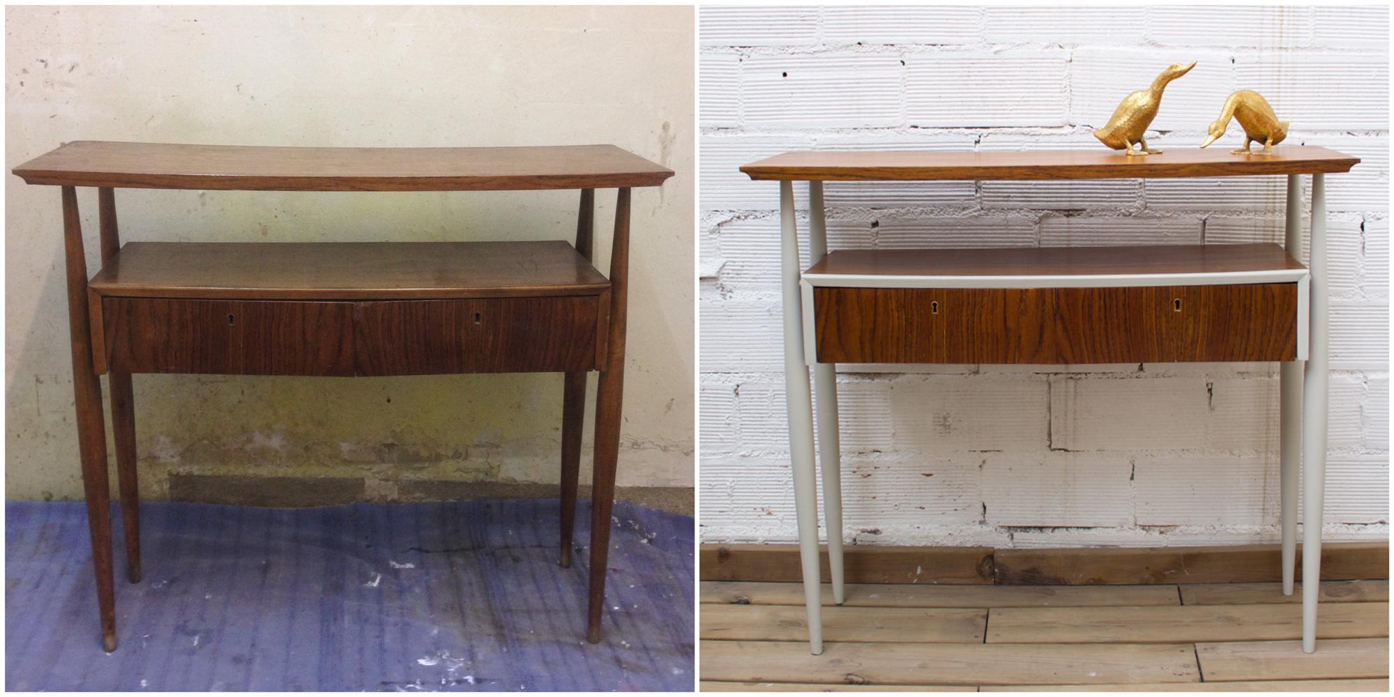 Mueble recibidor años 50 renovado