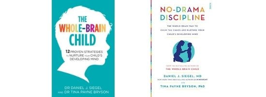 The Whole Brain Child and No Drama Discipline book covers
