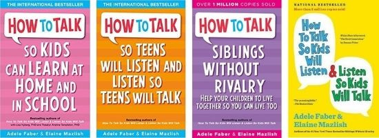 "Several ""How to Talk"" book covers in a collage"