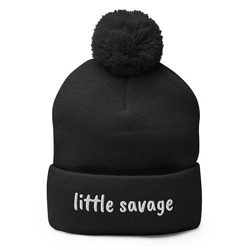 Little Savage Pom-Pom Beanie