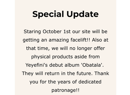New things coming and leaving Yeyefini.com