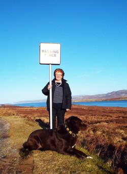 Angela Mackay and Bear