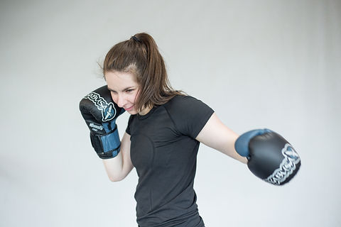 Girl Boxing left hook