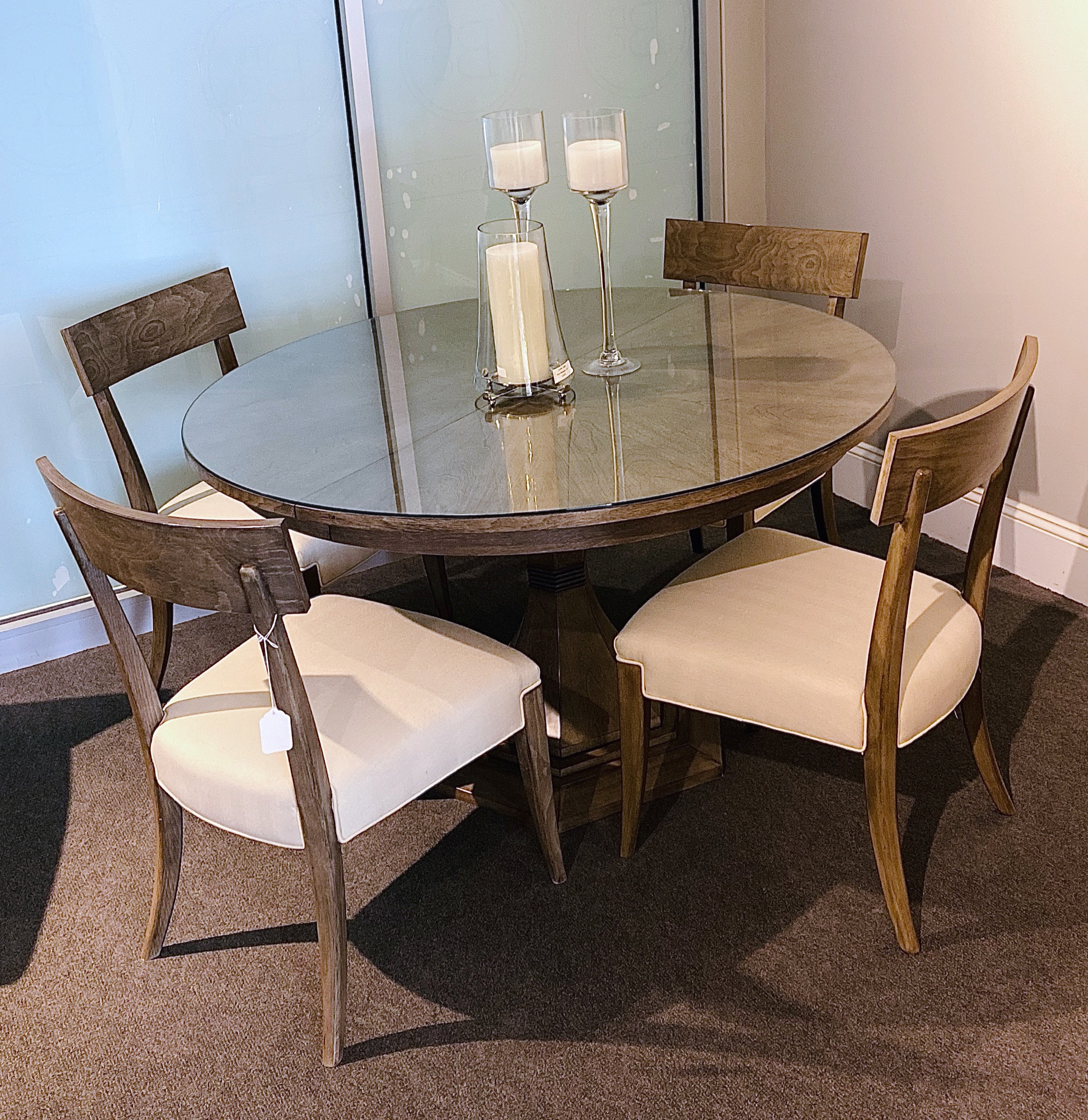 HOLD - Table with leaf & 6 chairs