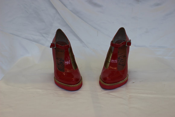 Red Glossy Wedges