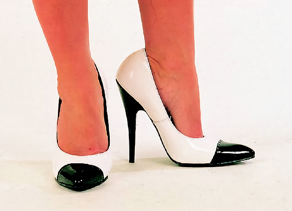 Black and White Court Shoes