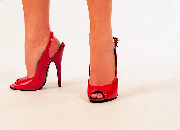 Red Patent Peep-toe Sling-backs