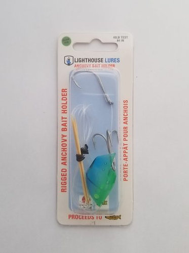 Rigged Anchovy Bait Holder – Blue/Green