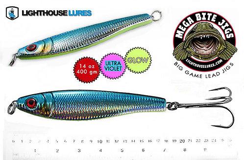 Mega Bite Big Game Deep Drop Herring Jig 14oz & 20oz – Mylar Blue