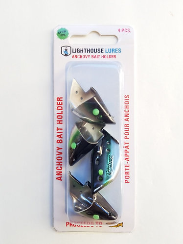 4 Pack Anchovy Bait Holder -Black Green Chrome