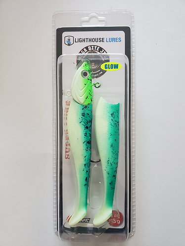 Mega Bite 4oz Super Lure Swim Bait Jigs – Green Demon