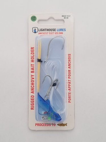 Rigged Anchovy Bait Holder – Clear Blue Scale