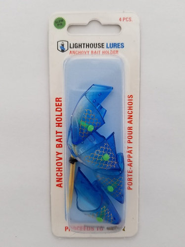 4 Pack Anchovy Bait Holder – Clear Blue Scale