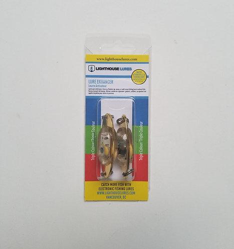 L.E.D. Lure Enhancer 2 Pack – Triple Colour Flash