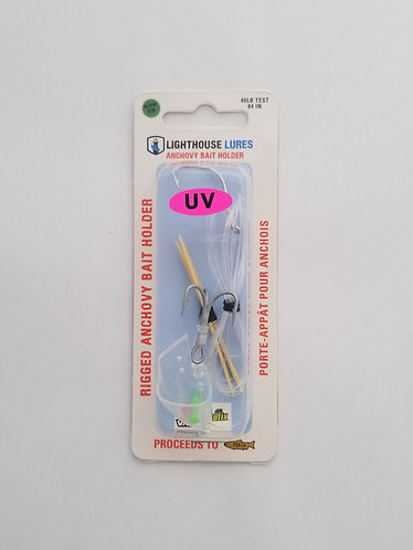 Rigged Anchovy Bait Holder – UV Clear
