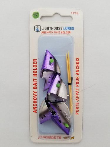4 Pack Anchovy Bait Holder – Chrome Purple Black