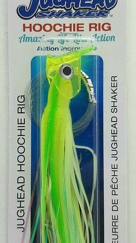 Jughead Shaker Hoochie Rig – UV Glow Chartreuse/Green