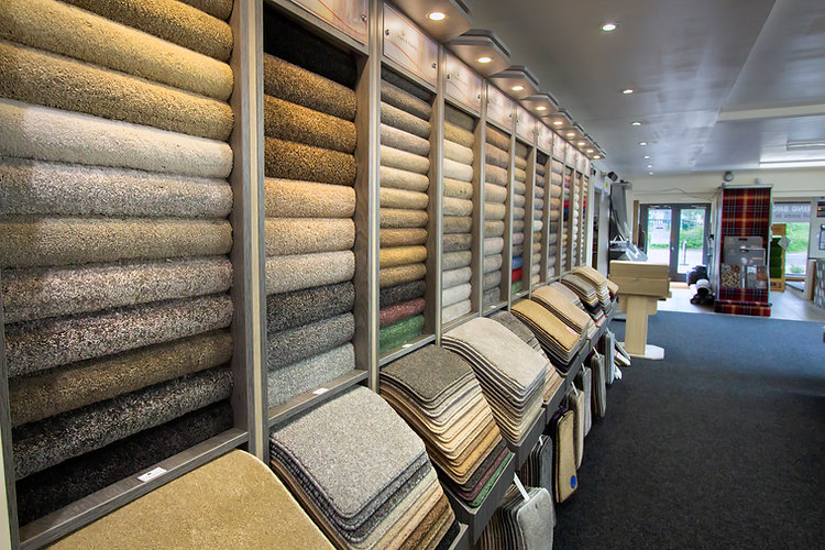 Kings Carpets and Flooring York - Majestic carpet display stands