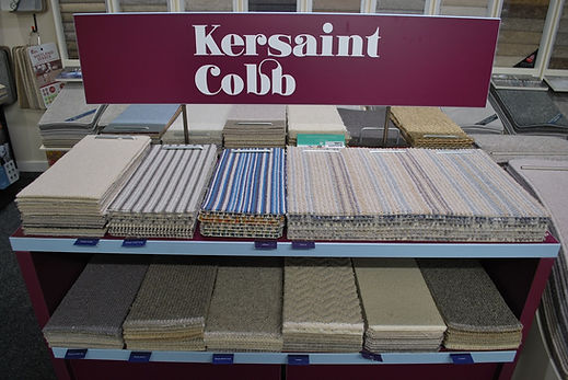 Kings Carpets and Flooring Kersaint Cobb display stands