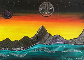 Auckland artist by Martn Rawiri. called