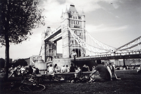 Photo by Cecie, chosen by public vote for July in 2016 My London calendar. 'It was a really hot day. It was the first day I collected the camera so I just walked around until I stopped somewhere near the Tower Bridge and saw people on the grass. It looked so relaxing so I just captured the Moment', says Ceci, adding that London can be bustling but it can also be relaxing. Originally from Hong Kong, Ceci found herself alone at a railway station all night one December when she met a homeless guy who suggested she join him at Crisis for Christmas. Diagnosed with post-traumatic stress disorder while staying at a night shelter, she uses the Crisis art groups to help her get away from the chaos in her large Bethnal Green squat which she finds 'chaotic', with 'people yelling, shouting, verbal violence and physical violence.' Ceci says that art also helps her find her 'inner connection' and gives her strength to fight self-destructive behaviour. She has studied media and culture and enjoys participating in photography and art as part of her 'daily life enlightenment' and she is currently creating a blog about random acts of kindness.