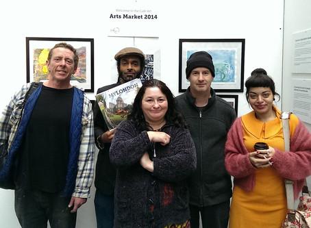 Cafe Art Exhibition at Spitalfields Arts Market