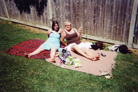 Photo by James Robson, 2015 My London Exhibition. James Robson took this shot of his girlfriend Debbie and her friend Kat at Crystal Palace on a hot summer afternoon. 'We went over there for a couple of hours and chilled out.' Born in New Cross, James lives in Lewisham and often visits Crystal Palace as it's near where Debbie lives in Sydenham. 'James went to Crisis when he had a breakdown: 'I was at a low ebb'. He is now a student at City Lit in Covent Garden studying photography, he's still connected with Crisis doing photography, which is how he heard about the contest.