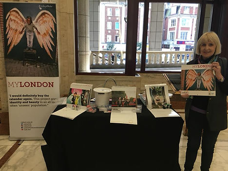 The annual MyLondon calendar is sold by photographers who have been homeless.