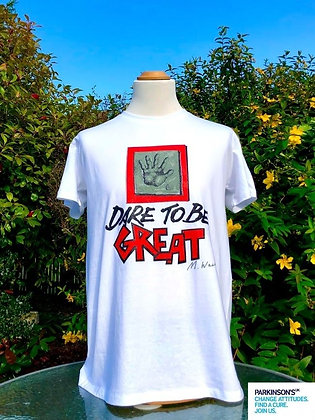 """""""Dare to Be Great"""" Charity Tee for Parkinson's UK"""