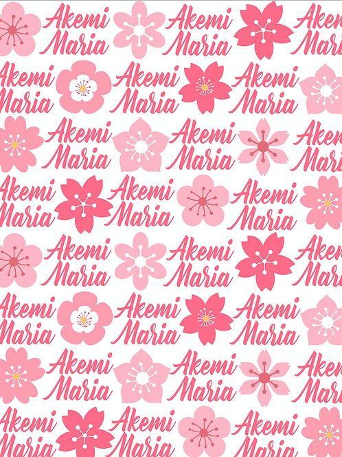 Personalized Cherry Blossom Blanket