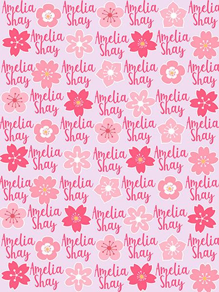 Personalized Sakura Blanket