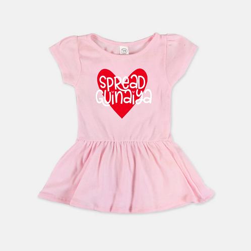 Pink Guinaiya Dress + White Text