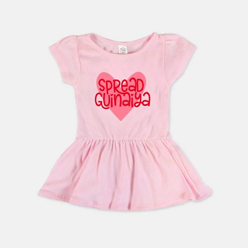 Pink Guinaiya Dress + Red Text