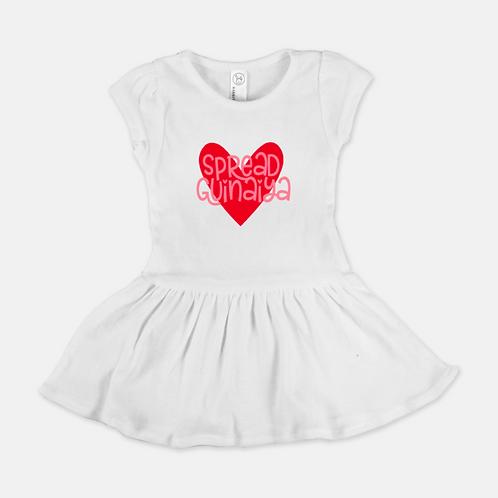 White Guinaiya Dress + Pink Text