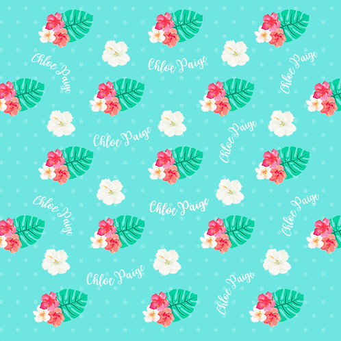 Personalized Tropical Flowers Blanket