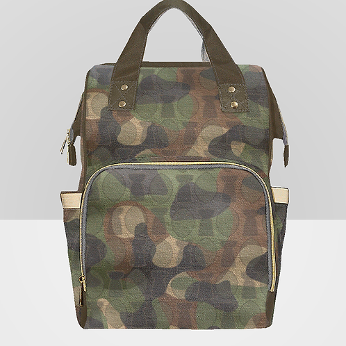 Camo Backpack with Handle